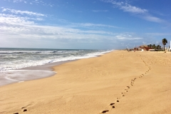 Písčité pláže na ostrově Ilha de Faro